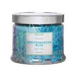 New Mediterranean Blue 3 Wick Candle